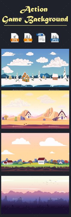 Action Game Background - Backgrounds Game Assets