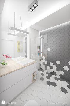Łazienka styl Minimalistyczny - zdjęcie od INVENTIVE studio - Łazienka - Styl Minimalistyczny - INVENTIVE studio Modern Bathroom Tile, Bathroom Layout, Best Bathroom Designs, Bathroom Interior Design, Small Downstairs Toilet, Downstairs Bathroom, Diy Home Bar, Timeless Bathroom, Bathroom Design Inspiration