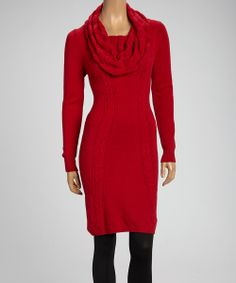 Nice Sweater Dress NEW ELLEN TRACY Cowl Neck Sweater Dress Red XS ...