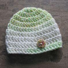 SALE Baby Newborn Crochet Button Beanie Hat Photo Prop Elf Gnome Reborn Doll