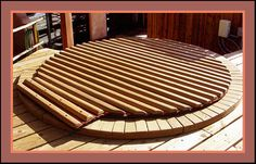 Roll off hot tub cover