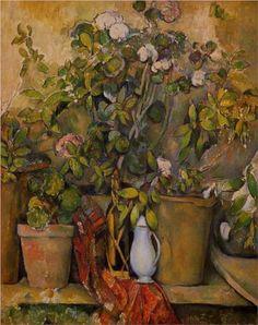 Potted Plants - Paul Cezanne