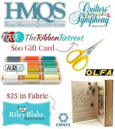 Fantastic opportunity to win loads of goodies with the HMQS - Home Machine Quilting Show giveaway hosted on Patchwork Posse including #Aurifil!  To read all the details and to enter for your chance to win please visit http://www.patchworkposse.com/2014/05/home-machine-quilt-show-2014-giveaway/