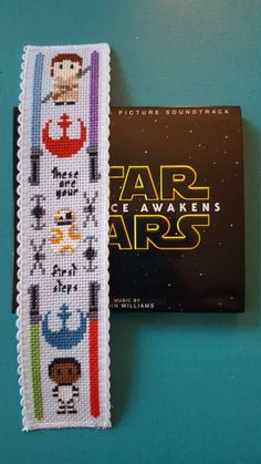 Items similar to Star Wars Cross Stitch Bookmark *finished product* on Etsy - Star Wars Cross Stitch Bookmark finished by HouseElfStitchery - Cross Stitch Books, Cross Stitch Bookmarks, Cross Stitch Charts, Cross Stitch Designs, Modern Cross Stitch, Cross Stitch Patterns, Cross Stitching, Cross Stitch Embroidery, Embroidery Patterns