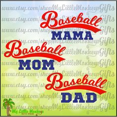Baseball Mama Baseball Mom Baseball Dad Curved Design Digital Clipart and Cut File Full Color Jpeg Png SVG EPS DXF Instant Download - pinned by pin4etsy.com