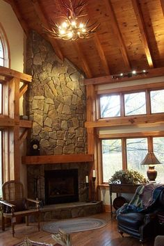 Recover an old fireplace with thin stone veneer. Product: Stone Veneer from Cultured Stone. #fireplace #fireplaces #stone #stoneveneer #veneer