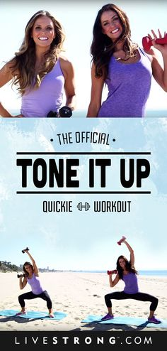 A great workout from the #ToneItUp ladies! #workoutguide