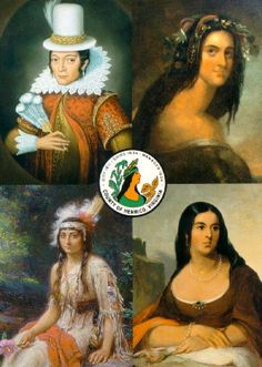 Pocahontas Paintings / Four Faces of Pocahontas