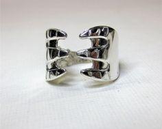 Ring laget av sølv sukkerklype Handmade Silver, Silver Jewelry, Cufflinks, Rings, Accessories, Silver Jewellery, Ring, Handmade Sterling Silver, Jewelry Rings