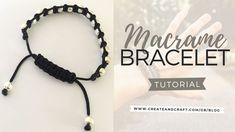 Macrame Bracelet Tutorial: The Square Knot Made Easy! - Create & Craft Blog Diy Macrame Earrings, Macrame Bracelet Patterns, Macrame Bracelet Tutorial, Macrame Bracelets, Diy Necklace, Diy Bracelets With String, Diy Bracelets Easy, Bracelet Crafts, Bracelet Knots