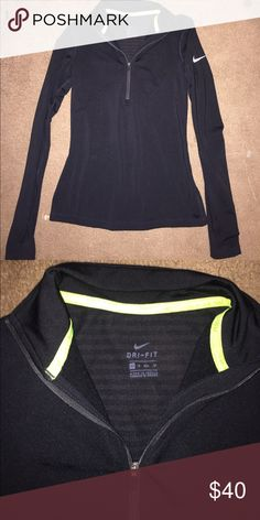 Solid Black Nike Pro Running Thermal Very gently worn Nike Jackets & Coats