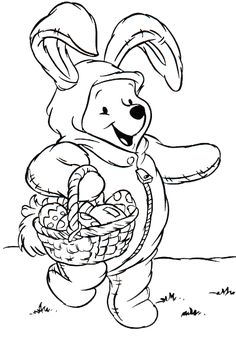 Top 10 Disney Easter Coloring Pages For Your Toddler Make your world more colorful with free printable coloring pages from italks. Our free coloring pages for adults and kids. Easter Coloring Pages Printable, Easter Bunny Colouring, Easter Egg Coloring Pages, Thanksgiving Coloring Pages, Spring Coloring Pages, Coloring For Kids, Coloring Pages For Kids, Coloring Books, Disney Coloring Pages Printables