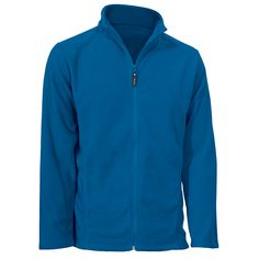 Men's Gombu Full Zip Midweight Fleece: Cobalt   S-2XL