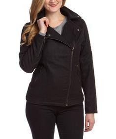 Look at this Yoki Black Moto Jacket - Plus on #zulily today!