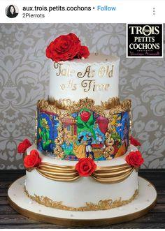 Beauty and the beast Custom Wedding cake