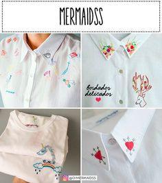 Saiba quais são as 3 marcas cools que fazem peças com bordados. A marca Mermaidss tem uma proposta tudo à mão.