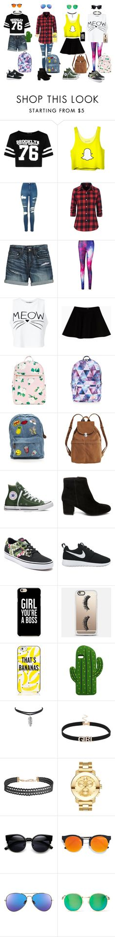 """""""Back 2 school BFF'S!"""" by jedezepo on Polyvore featuring Boohoo, Topshop, Canvas by Lands' End, Miss Selfridge, Max&Co., Accessorize, BAGGU, Steve Madden, Vans and NIKE"""