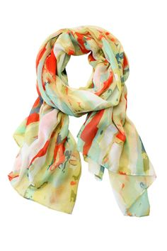 Yellow Stroke scarf by Printed Village