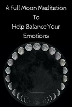 Try out this Full Moon Meditation To Help Balance Your Emotions. [Video Inside] Great meditation for beginners or advanced...