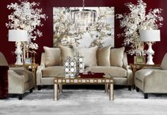 Family Tree from Z Gallerie ... IT looks great on a grand scale with neutral tones! Love the artwork...I am sure you can whip that one up!!