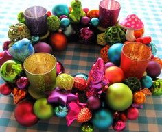 BRIGHT and colorful Advent Wreath