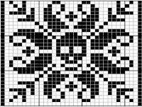 "Babbens Idéverksted: Fra ""Selbu Peace and Love"" til ""Selbu No-death"". Crochet Skull Patterns, Fair Isle Knitting Patterns, Knitting Charts, Loom Patterns, Knitting Stitches, Cross Stitching, Cross Stitch Embroidery, Cross Stitch Patterns, Crochet Cross"