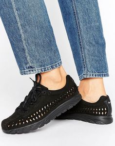 pretty nice fd1e2 ff3e1 Nike Mayfly Woven Trainers - Black. Trainers by Nike, Suede