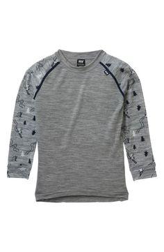 Helly Hansen Merino Wool T-Shirt & Pants Set (Toddler Boys & Little Boys) Helly Hansen, Outfit Sets, World Of Fashion, Merino Wool, Grey, Sweatshirts, Sweaters, Mens Tops, T Shirt