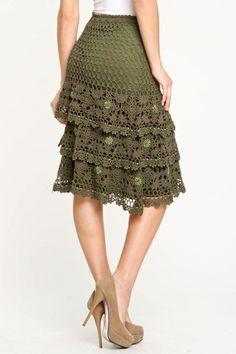 Картинки по запросу faldas en crochet para dama