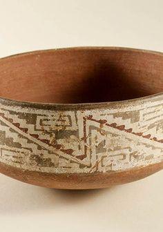 Escudilla decorada Paola Gonzalez, Jorge Rodriguez, Inca, Archaeology, Chile, Decorative Bowls, Norte, Slanted Walls, Painted Birds