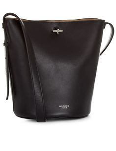 Rochas Black Borsa Bel Bucket Bag