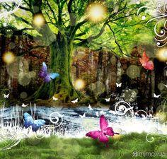 Bosque-Hayas Painting, Art, Pink, Photomontage, Wonderful Places, Woods, Art Background, Painting Art, Kunst