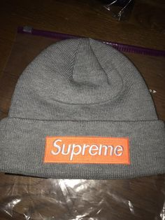 52454a40455006 SUPREME NEW ERA BOX LOGO BEANIE HEATHER GREY BRAND NEW FW17 #fashion # clothing # · SupremeBeanieCouponAmazonBox LogoClothingLogosHatsAccessories