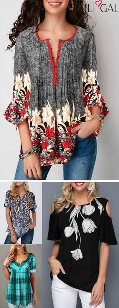 Retro Flower Print Spring Summer Tops for women - pretty spring summer tops, cute tops, retro flower print t shirts, casual blouses, wo - Summer Outfits Women, Spring Outfits, Summer Dresses, Mode Outfits, Fashion Outfits, Wonder Woman Shirt, Blouses For Women, T Shirts For Women, Mode Chic