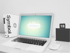 Workstation Macbook Air Showcase Mockup designed by Rubayath Rahman. Macbook Mockup, Billboard Signs, Photoshop Illustrator, Mockup Templates, Apple Products, Photoshop Tutorial, Macbook Air, Free, Letterhead