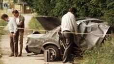 Zerstörtes Auto nach Attentat von Straßlach im Juli 1986 | Bild: picture-alliance/dpa