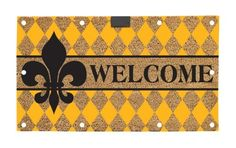 "Evergreen EverOptics, Welcome Fleur,Lighted Coir Floormat,28x16 Inches by Ashley Gifts. $29.99. Light up your steps with the EverOptic Luminous Mat!. Size is: 28""X16""X0.6"". Recycled rubber backing. anti-skid surface;Easy to clean. Coconut fiber coir material; Fade and weather resistant. The LED lighting system uses 10 Embedded super bright led lights to light up the dark when the mat is stepped on.The mat will stay lit for approximately 60 seconds. Using a timer, the lights au..."