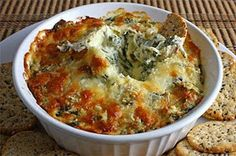 spinach and artichoke dip - good for parties