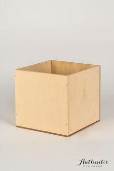 Wooden square box