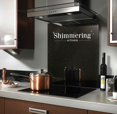 Add sparkle to your kitchen and a bit of glamour while you cook using Impact Glass Splashback.