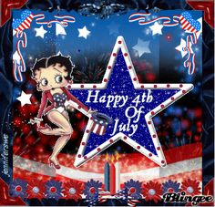"betty boop 4th july | This ""4th of july"" picture was created using the Blingee free online ..."