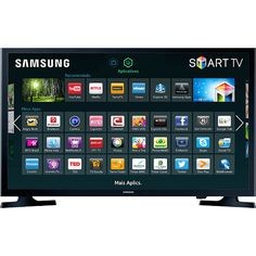 Smart TV LED 32 Samsung UN32J4300AGXZD HD com Conversor Digital 2 HDMI 1 USB Wi-Fi 120Hz