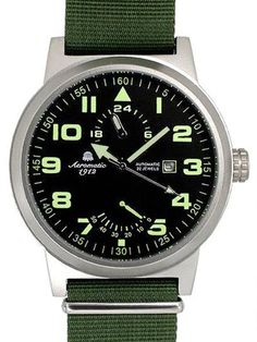 Aeromatic automatic watch with power reserve indicator.