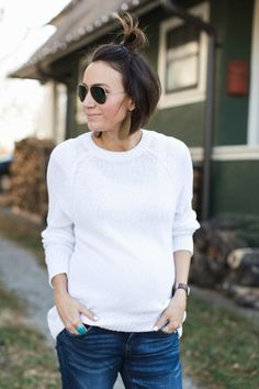 Shoulder Length Hair Top Knot - ONE little MOMMA
