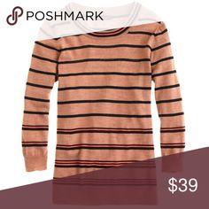 J. Crew Tippi Sweater In Multicolor Stripe $90 🦄 Size XS. Originally $90. 100% merino wool. 🦄 J. Crew Sweaters Crew & Scoop Necks