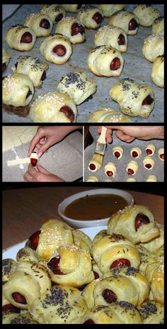 Pastry Wrapped Sausages. Bocaditos imperdible. Ideal para cumple de niños
