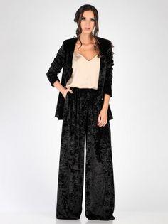 Ženske Hlače CARLA BY ROZARANCIO #plush #black #fashion #women_fashion #fashion_trend