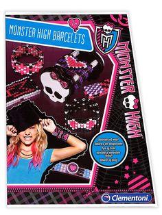 Tee itse upeat Monster High -rannenauhat helmistä ja joustavasta narusta. Pakkaus sisältää punontakehikon, helmiä, narua, neulan, tarroja sekä kuvalliset ohjeet. Ikäsuositus 7+