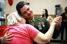 Women of all ages love a man in uniform     (U.S. Marine Corps photo by Cpl. Paul Peterson)