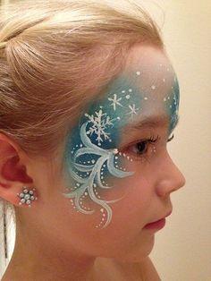 Elsa face paint   Eiskönigin Kinderschminken